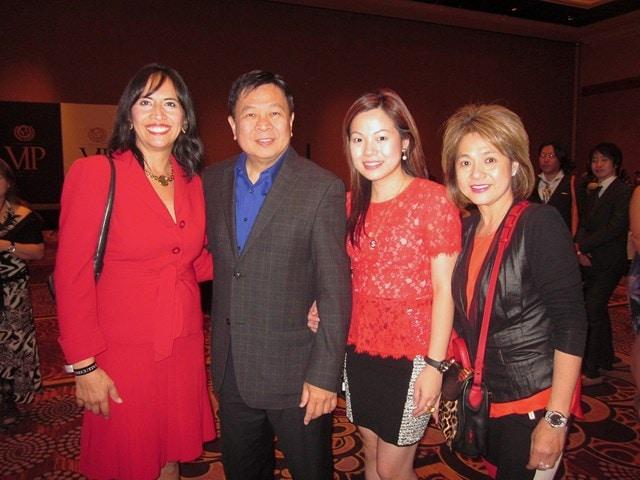 Anabella Bonfa with Organo Gold's President, Bernie Chua and family.